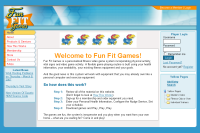 Fun Fit Games :: Personalized fitness video game system incorporating physical activity, vital signs and video game activity.